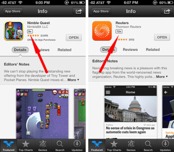 Apple has added a box to app descriptions that shows a recommended age for the user of an app
