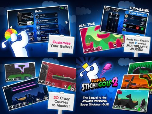 Super Stickman 2 Golf - Android, iOS - Free