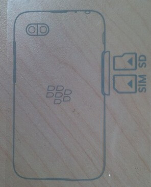 Sketch of the rumored entry level BlackBerry R-Series phone