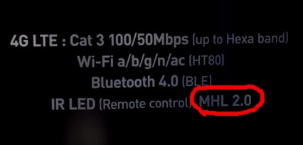 MHL 2.0 support