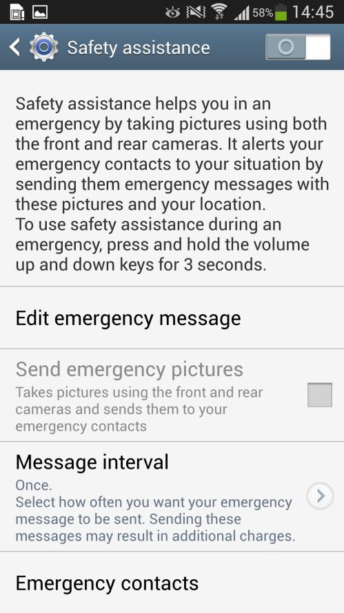 Safety Assistance option