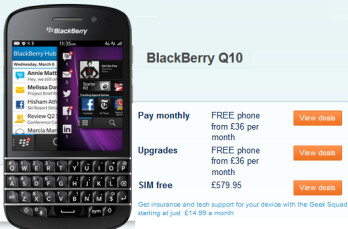 You can now pre-order the BlackBerry Q10 from Carphone Warehouse