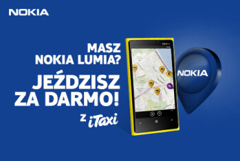 Inside the city of Warsaw, Nokia Lumia owners get free cab rides