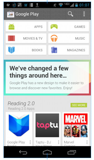 This could be the new home page for the Google Play Store