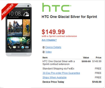 Pre-order Sprint's HTC One for $149.99 from Wirefly
