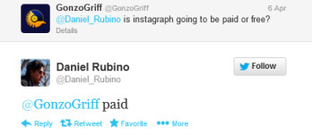 This tweet says Instagraph will be a paid app