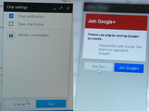 New screens of Google Babel in Gmail