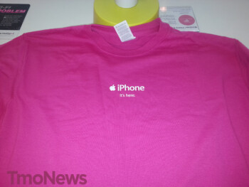 T-Mobile iPhone uniforms arrive in preparation for the big Friday launch