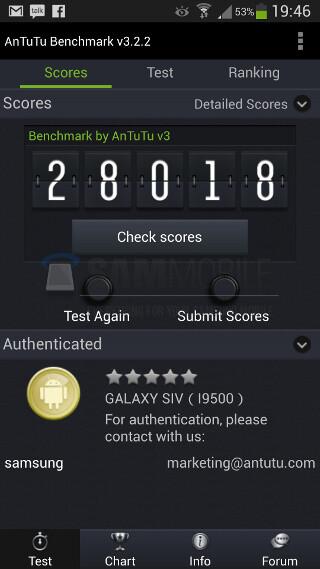 Exynos-based Samsung Galaxy S4 benchmarks surface
