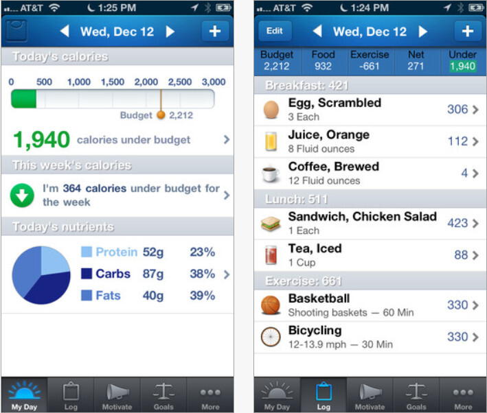Use apps that allow you to count calories