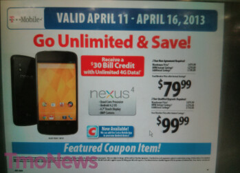 Buy the Google Nexus 4 from Costco for $79.99 on contract