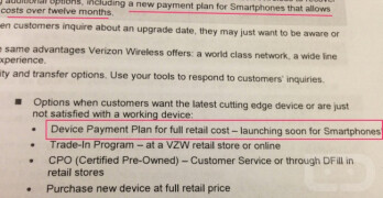This leaked Verizon document suggests a new payment plan is coming to Verizon