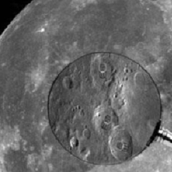 A clearly authentic photo enhancement shows Nokia 3310 impressions on the moon