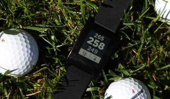 The Pebble smartwatch offers an app that turns it into a golf rangefinder