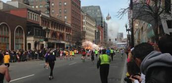 Two explosions rock the Boston Marathon