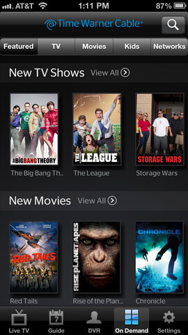 Time Warner Cable starts offering live mobile TV for Apple iPhone and iPad