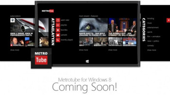 Metrotube YouTube player coming to a Windows 8 PC near you