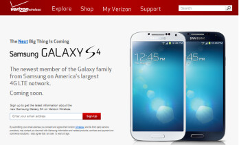 Verizon is taking pre-registrations for the Samsung Galaxy S4