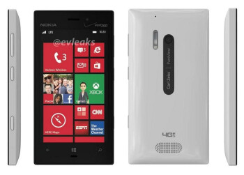 New leak shows the Nokia Lumia 928 in white