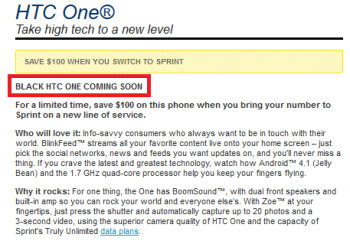 ...Sprint's website says it is coming soon