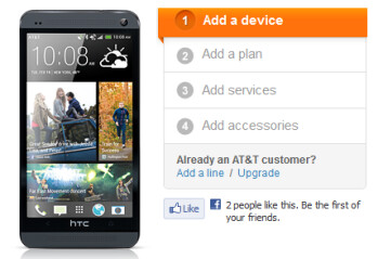 While AT&T displays the Stealth Black HTC One...