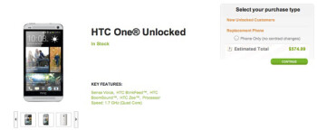 HTC One now sold unlocked in the US