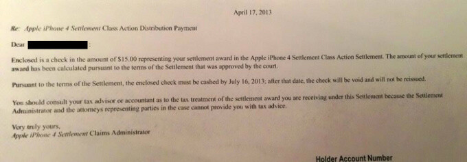 iPhone 4 owners start receiving $15 'antennagate' refund checks from Apple