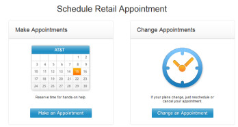 Schedule your appointment with AT&T online