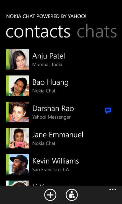 Nokia Chat screenshots