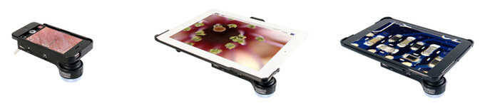 ProScope Micro Mobile is an 80X microscope attachment for the iPhone