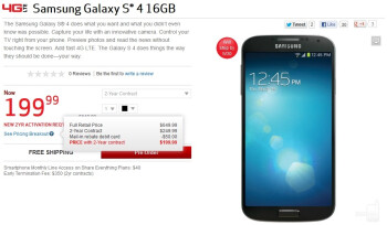 Verizon's pre-order page is live for the Samsung Galaxy S4