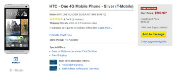 T-Mobile's HTC One is now available at Best Buy