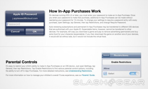 Apple's user guide for in-app purchases