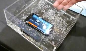 P2i's new technology allows this Samsung Galaxy S III to work perfectly whiile submerged in water