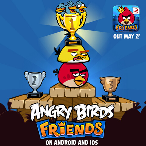 Angry Birds Friends is coming to iOS and Android on May 2nd - Angry Birds Friends comes to Android and iOS on Thursday, join with friends to hold tournaments