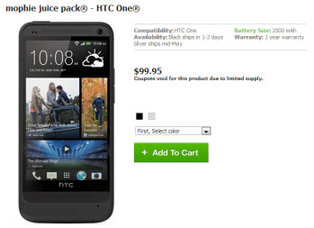 The Mophie Juice Pack can double the battery life on the HTC One
