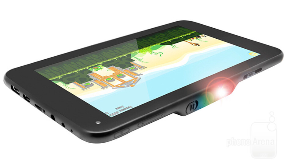 The LumiTab combines a tablet and a portable projector for the first time