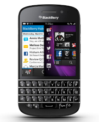 Now available in Canada, the BlackBerry Q10