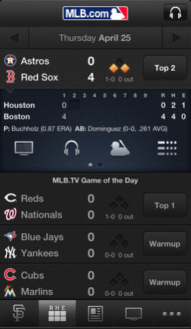 Screenshot from At Bat 13 - T-Mobile customers get to download the premium version of MLB's At-Bat 13 for free