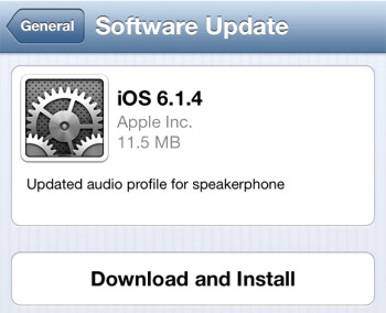 Apple iPhone 5 owners should be receiving iOS 6.1.4
