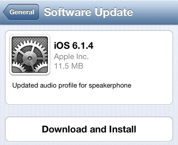 Apple iPhone 5 owners should be receiving iOS 6.1.4 - Apple iPhone 5 iOS 6.1.4 update brings improved audio for the speakerphone