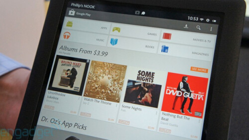Google Play Store comes to the Barnes and Noble Nook HD and HD+