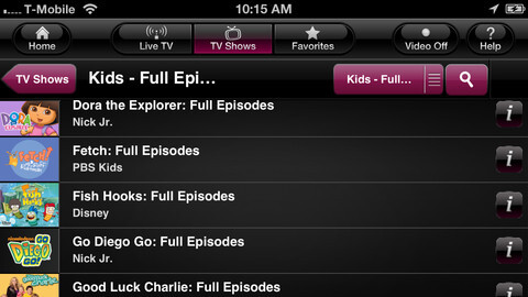 T-Mobile TV for iOS