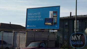 Someone jumped the gun by putting up this billboard of the unannounced Nokia Lumia 928