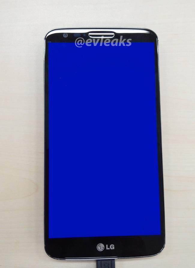 This mystery LG handset apparently is buttonless, at least in front - Mystery LG handset leaks, could be the LG Optimus G2