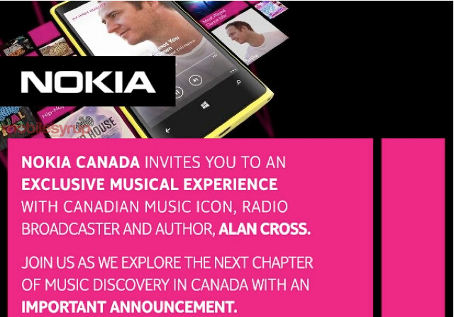 Is Nokia Music being introduced in Canada on May 15th? - Nokia says it will make an important announcement in Canada on May 15th