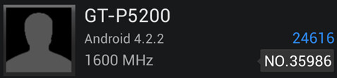Samsung GT-P5200 surfaces on AnTuTu, Galaxy S4-like performance