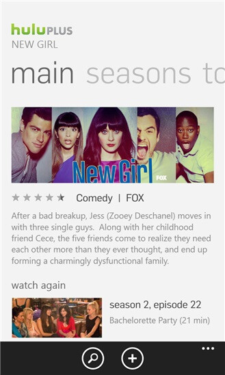 Hulu Plus for Windows Phone 8