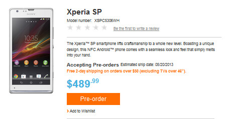 Pre-order the Sony Xperia SP from the U.S. Sony Store - Sony Xperia SP available for U.S. pre-order
