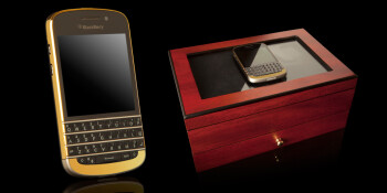 BlackBerry Q10 with 24ct. gold bezel